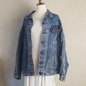 Vintage Stone Wash Lee Oversized Denim Jacket